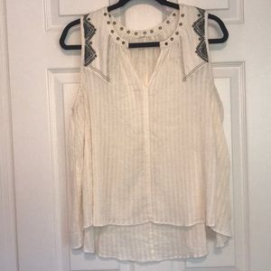 Anthropologie Floreat embroidered tank